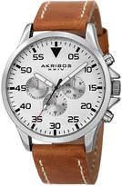 Akribos XXIV Unisex Brown Strap Watch-A-773ssbr