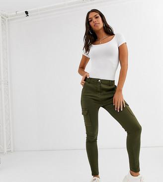 Parisian Tall utility cargo trousers in khaki-Green