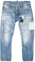 DSQUARED2 Cotton Denim Jeans With Patches