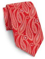 Saks Fifth Avenue Paisley Neat Silk Tie