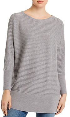 Eileen Fisher Wool Boatneck Tunic Sweater