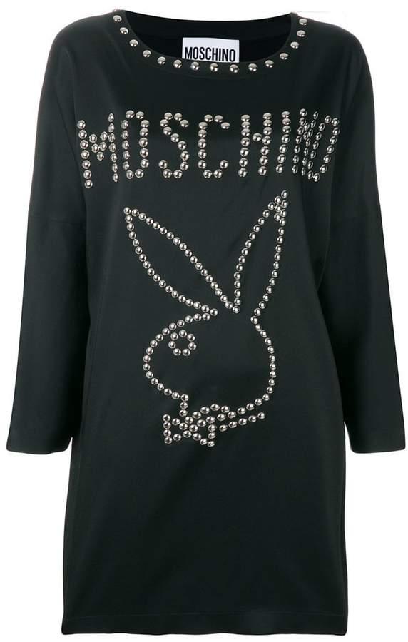 Moschino Playboy studded mini dress