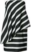 Halston strapless draped dress