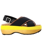 Marni Leather Sandal With Bicolor Sole