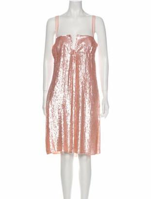 Valentino Silk Knee-Length Dress w/ Tags Pink