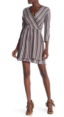 Angie Striped Knit Sweater Dress