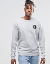 Cheap Monday Per Crew Sweatshirt Mini Skull Gray Melange