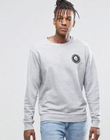 Cheap Monday Per Crew Sweatshirt Mini Skull Grey Melange