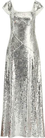 Thumbnail for your product : Ralph Lauren Metallic Sequined Gown