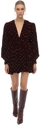 Dodo Bar Or Crystal Embellished Velvet Mini Dress