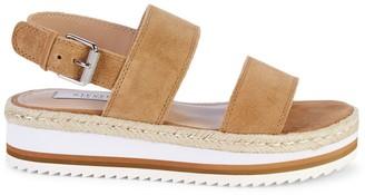 Steven New York Myer Suede Platform Wedge Slingback Sandals