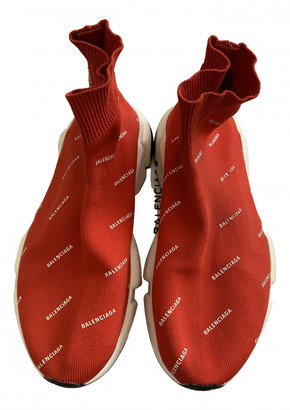 Balenciaga Speed Red Cloth Trainers