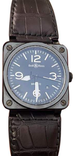 Bell & Ross BR03-92 CBl-03703 Black Ceramic 42mm Mens Watch
