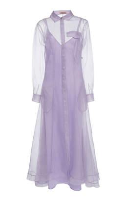 Maggie Marilyn Keep It Together Silk-Chiffon Maxi Dress