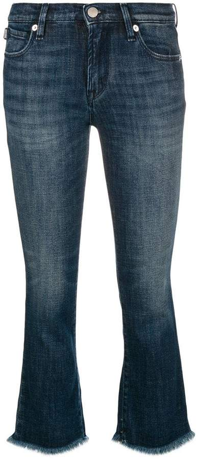 Love Moschino frayed cropped jeans