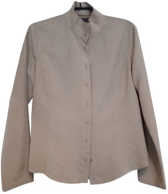 Armani Jeans Beige Suede Top for Women