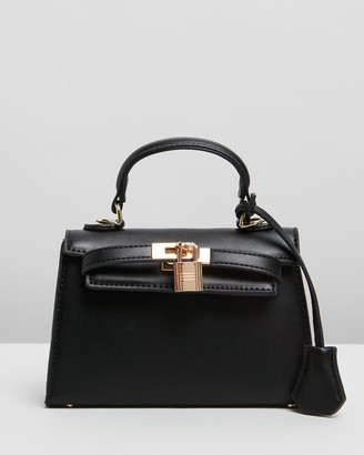 PETA AND JAIN - Women's Black Cross-body bags - Hedi Mini Top Handle Bag - Size One Size at The Iconic