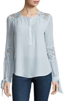 BELLE + SKY Long Sleeve Peasant Blouse