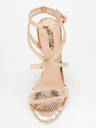 Office Hooria Heeled Sandals - Rose Gold