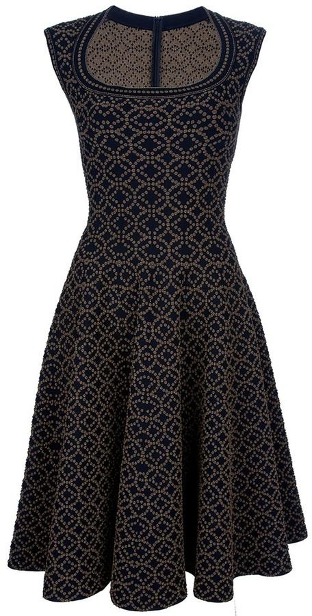 Alaia Flared sleeveless dress