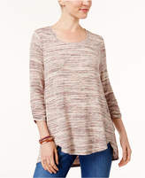 Style&Co. Style & Co Petite Space-Dyed Top, Created for Macy's