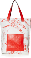 Loewe Galaxy-print leather tote