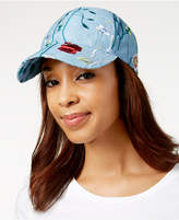 Steve Madden Embroidered Denim Baseball Cap