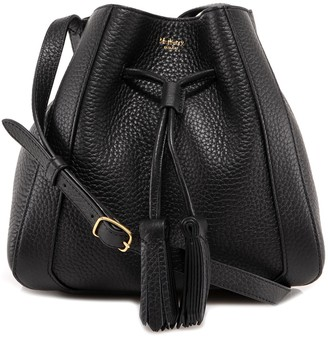 Mulberry Drawstring Tassel Detailed Shoulder Bag