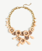 Ann Taylor Flower Charm Statement Necklace