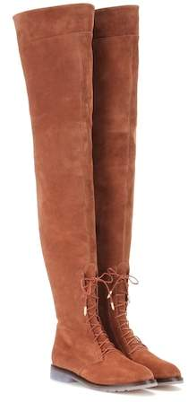 Aquazzura Arizona suede over-the-knee boots