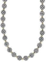 "Lagos Sterling Silver 10mm Caviar Lattice Ball Necklace, 24"""