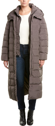 Cole Haan Long Down Puffer Coat