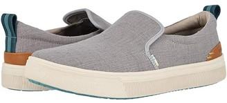 Toms TRVL LITE Slip-On (Drizzle Grey Heritage Canvas) Men's Slip on Shoes