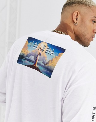 Columbia ASOS DESIGN Pictures oversized long sleeve t-shirt with back and body print