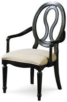 Universal Furniture Summer Hill Pierced Back Arm Chair in Midnight Finish