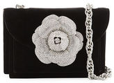 Oscar de la Renta Velvet Rose Chain Crossbody Bag
