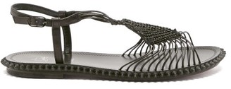 Christian Louboutin Janis In Spain Macrame Sandals - Black