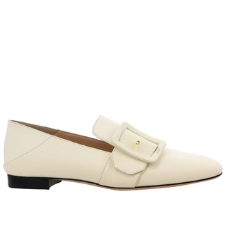 Bally Janelle Tonal Leather Loafer With Buckle