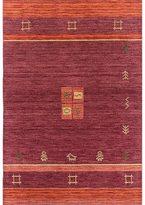 Ecarpetgallery Luribaft Gabbeh Riz Red Hand-knotted Wool Rug (4'0 x 6'0)