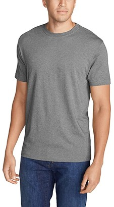 Eddie Bauer Legend Wash Short Sleeve Classic Pro Tee (Medium Heather Gray) Men's Clothing
