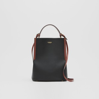 Burberry Small Two-tone Leather Peggy Bucket Bag