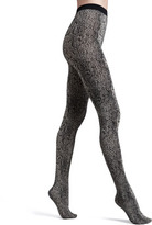 Wolford Rattlesnake-Print Opaque Tights, Almodine