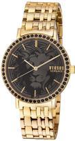 Versus By Versace Manhasset Round 42mm Lion-Dial Women's Watch, Golden/Black