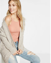 Express cross back cable knit cover up