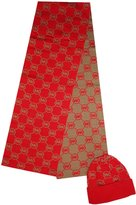 Michael Kors Women's Logo Knit Scarf & Beanie Hat Set, /Camel