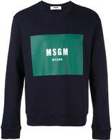 MSGM logo print sweatshirt - men - Cotton - S