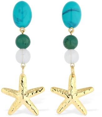 Rixo Multi Gem Starfish Earrings