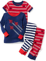 Old Navy Jet-Plane 4-Piece Sleep Set for Toddler & Baby