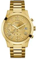 Guess Men's Chronograph Gold Tone Bracelet Watch