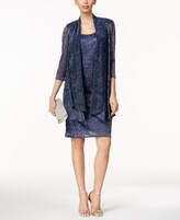 Thumbnail for your product : R & M Richards Sleeveless Metallic Dress and Jacket